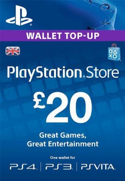 UK PSN 20 GBP Lahjakortti