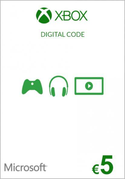 EU Xbox 5 Euro Lahjakortti (Xbox One & 360)