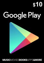 USA Google Play 10 Dollari Lahjakortti