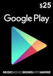USA Google Play 25 Dollari Lahjakortti