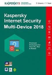 Kaspersky Internet Security Multi-Device 2018 (3 Käyttäjää, 1 Vuosi)