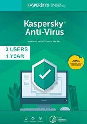 Kaspersky Anti-Virus 2019 (3 Käyttäjää, 1 Vuosi)