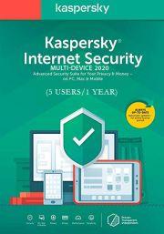 Kaspersky Internet Security Multi-Device 2020 (5 Käyttäjää, 1 Vuosi)