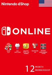 USA Nintendo 12 Month jäsenyys