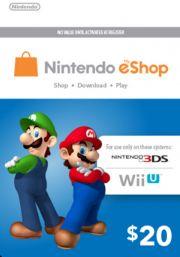 USA Nintendo 20 Dollari eShop Lahjakortti