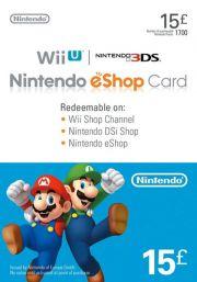 UK Nintendo 15 Punta eShop Lahjakortti