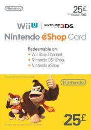 UK Nintendo 25 Punta eShop Lahjakortti