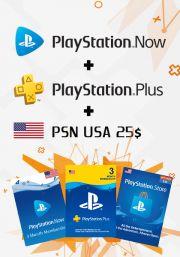 USA PSN 3 kuukauden kombotarjous