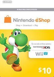 USA Nintendo 10 Dollari eShop Lahjakortti