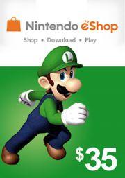 USA Nintendo 35 Dollari eShop Lahjakortti