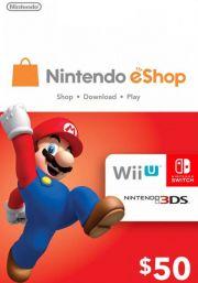 USA Nintendo 50 Dollari eShop Lahjakortti