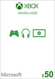 UK Xbox 50 Punta Lahjakortti
