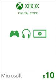 USA Xbox 10 Dollari Lahjakortti