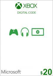 USA Xbox 20 Dollari Lahjakortti