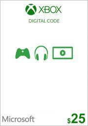 USA Xbox 25 Dollari Lahjakortti