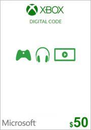 USA Xbox 50 Dollari Lahjakortti