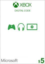 USA Xbox 5 Dollari Lahjakortti