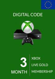 EU Xbox Live Gold 3 kk (Xbox One & 360)