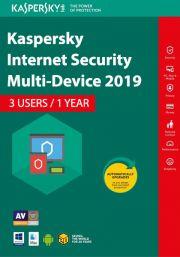 Kaspersky Internet Security Multi-Device 2019 (3 Käyttäjää, 1 Vuosi)