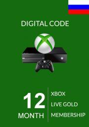 RUS Xbox Live Gold 12 kk (Xbox One & 360)