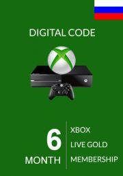RUS Xbox Live Gold 6 kk (Xbox One & 360)