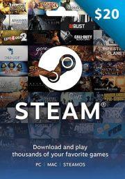 USA Steam 20 Dollari Lahjakortti