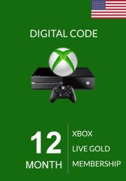 USA Xbox Live Gold 12 kk