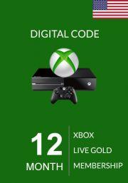 USA Xbox Live Gold 12 kk