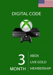 USA Xbox Live Gold 3 kk