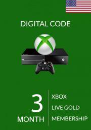 USA Xbox Live Gold 3 kk